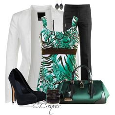 Green Animal Print, created by ccroquer on Polyvore