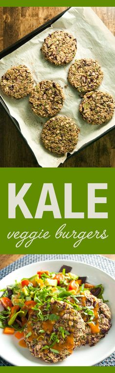 Kale Veggie Burgers - easy and tasty vegan and gluten free recipe | VeggiePrimer.com