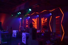 Malibu Music Invasion stage set with LED video wall