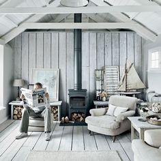Wooden cabin interior idea.  https://www.quick-garden.co.uk/log-cabins.html