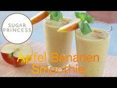 Köstlicher, gesunder Apfel Bananen Smoothie - ganz einfach selbst gemacht - auch für Sportler und Fitnesslover super geeignet!