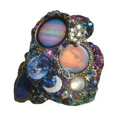 Gemstones Brooch ❤ liked on Polyvore featuring jewelry, brooches, rings, accessories, fillers, gemstone jewelry, gem jewelry and gemstone jewellery