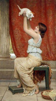 Charles Edward Perugini (Italia/Inglaterra, 1839-1918).  At Play.