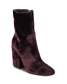 love the style, not the color | Kendall and Kylie Brooke Velvet Block Heel Booties