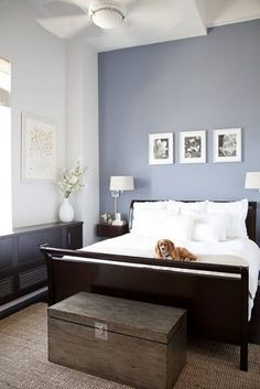 Bedroom - Small Bedroom Paint Colors Pleasing Paint Colors For Bedroom. Natural Master Bedroom Paint Alluring Paint Colors For Bedroom. The Best Paint Colors From Stunning Paint Colors For Bedroom. Paint Colors For Bedroom Tagged at kadol. Blue Accent Walls, Blue Grey Walls, Bluish Gray, Bedroom Wall Colors, Colourful Bedroom, Blue Bedroom Paint, White Wall Bedroom, Blue Master Bedroom, Bedroom Small