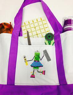 Upcycle tote bag via @sulkythreads