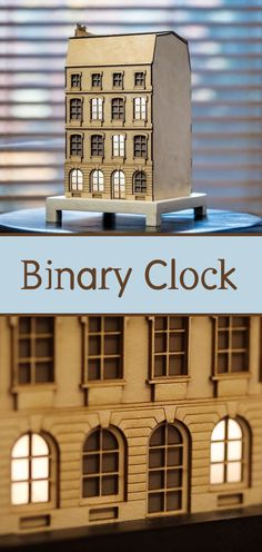 Binary clock hidden inside a typical Parisian building.