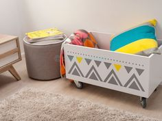 Mocka Mod Ottoman - white with Bronx Crate and Jesse Coffee Table