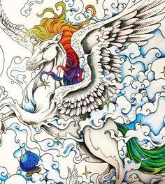 Finished this beautiful #kerbyrosanes #unicorn #kerbyrosanesmythomorphia #bayan_boyan #prismacolor #mythomorphia #coloring #adultcoloringbook
