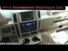 New 2013 Winnebago Sightseer 33C Motor Home Class A. What we like - great floorplan, retractable TV into credenza with table that can double as a workstation with lots of great storage!  Website: http://www.gowinnebago.com/products/2013/sightseer/