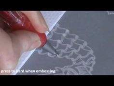 ▶ Video Class 3 How to Emboss a Stamped Image Seahorse Card - YouTube