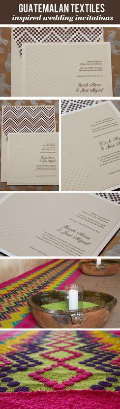 invitaciones con textiles tipicos