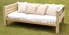 free daybed plans with storage for periodicals. Free standing daybed looks good from every angle.