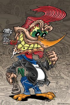 ratfink toons of art cartoon tattoo lowbrow favourite cartoon character rat fink Cartoon Kunst, Cartoon Art, Cartoon Illustrations, Cartoon Characters, Graffiti Art, Graffiti Wallpaper, Ed Roth Art, Street Art, Cartoon Tattoos
