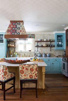 Klasik mutfakları seviyorsanız, tek kelimeyle harika bir mutfak dekorasyonu örneği.