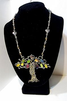 Summer Tree of Life necklace set by LauraStaley on Etsy, $95.00