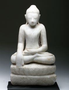 This beautiful 17th century Burmese Buddha depicts the Bhumisparsha Mudra, a gesture  which symbolizes the Buddha's connection with the earth.