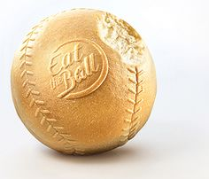 Eat the Ball® Baseball original. Bread of a new Generation. One Ball One Game! First Game, Bread, Baseball, The Originals, Baseball Promposals, Breads, Sandwich Loaf