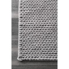 nuLOOM Handmade Braided Cable New Zealand Wool Rug (6' x 9')