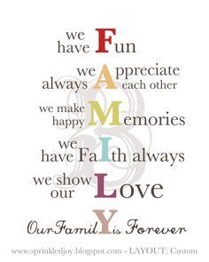 Family acronym. Simple but profound.