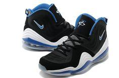 Hardaway Penny shoes 2012-Air Penny 5 Orlando Grey Black Soar Blue White