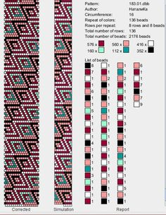 16 around tubular bead crochet rope pattern. Crochet Bracelet Pattern, Crochet Beaded Bracelets, Beaded Necklace Patterns, Bead Crochet Patterns, Bead Crochet Rope, Bead Loom Bracelets, Beading Patterns, Beaded Crochet, Beadwork Designs