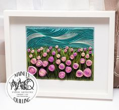 Quilled Paper Art | Sleep My Pretty | Original Quilled Artwork