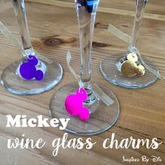 Clever (and useful) Disney Craft: DIY Mickey Wine Glass Charms