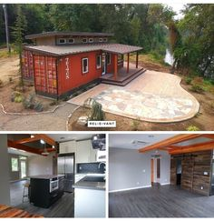 Container Van House Design Tiny Homes – Shipping Container US Storage Container Homes, Building A Container Home, Container Buildings, Container Architecture, Storage Containers, Cargo Container, Sustainable Architecture, House Architecture, Shipping Container Home Designs