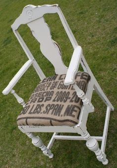 Coffee Sack Chair with some of those chairs that don't have bottoms