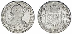 2 SILVER REALES/2 REALES PLATA. CHARLES III-CARLOS III. MÉXICO 1786 FM. VF/MBC.