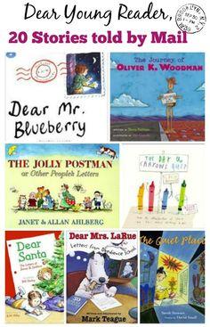 Delightful books whose stories are told through the exchange of mail --free list. Kids Reading, Reading Activities, Literacy Activities, Reading Lists, Communication Activities, Preschool Books, Preschool Kindergarten, Preschool Worksheets, Letters For Kids
