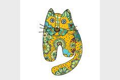 Funny cats by Vector&VideoArtShop on @creativemarket