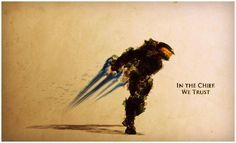 Master Chief, Halo series In the Chief, we Trust Master Chief And Cortana, Halo Master Chief, Halo Reach, Video Game Art, Video Games, Halo Quotes, Justin Currie, Halo Tattoo, Halo Spartan