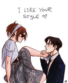 *a blush spreads across my cheeks and I smirk down at you* oh really? ((Open RP for Levihan))