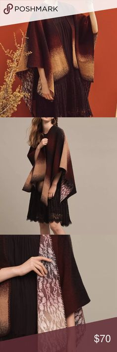 Anthropologie Wintertide Reversible Poncho One Sz New with no flaws. Anthropologie Sweaters Shrugs & Ponchos
