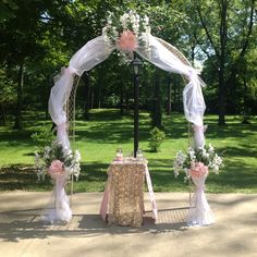 Arch flowers I made for daughters wedding!