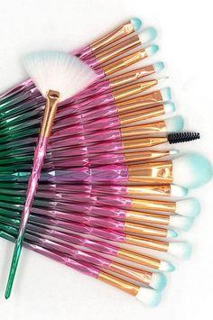 gold eyeshadow with Unicorn diamond makeup brushes set South American Countries, Gold Eyeshadow, Makeup Brush Set, Brushes, Set Of Makeup Brushes, Blushes, Golden Eyeshadow