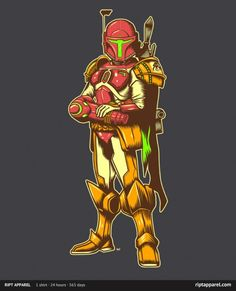 Very cool T-Shirt of a mix between Samus from Metroid and Boba Fett from Star Wars. I want...