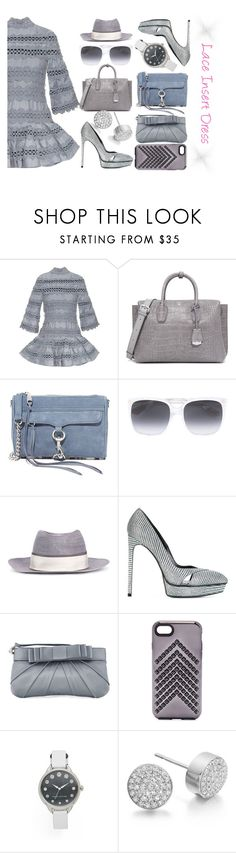 """""""Lace insert dress"""" by gadinarmada-1 ❤ liked on Polyvore featuring Zimmermann, MCM, Rebecca Minkoff, Gucci, Maison Michel, Yves Saint Laurent, Love Moschino, Marc Jacobs and Monica Vinader"""