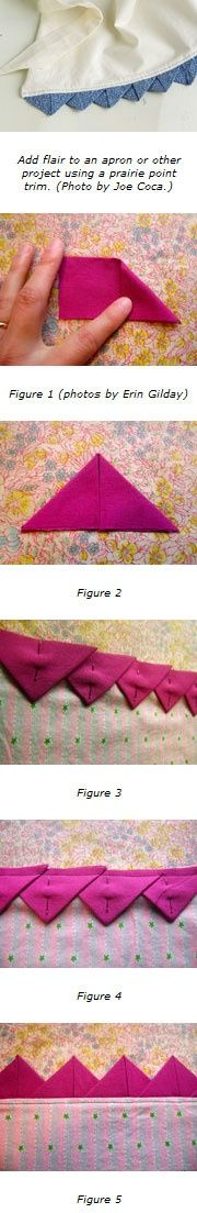 How to make a prairie point trim @ Do It Yourself Pins