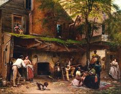 Eastman Johnson. Old Kentucky Home. 1859. Mid 19th Century. American Genre Painting poel_mma_1109_15-142054BF2E32A5E98BE.jpg (1800×1409)