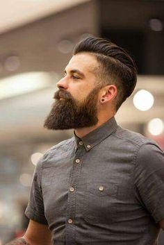 40 Viral Undercut Hairstyles with Beard - Machovibes New Hair Cut new hair cut with beard Long Beard Styles, Hair And Beard Styles, Curly Hair Styles, Thick Beard, Bald With Beard, Full Beard, Men Balayage, Beard Haircut, Undercut Beard
