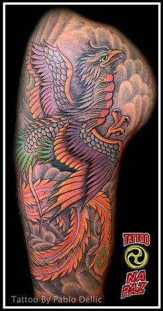 Fenix Tattoo by Pablo Dellic by Pablo Dellic , via Flickr