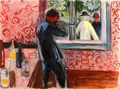 Uninvited Guests Edvard Munch, 1932-1935