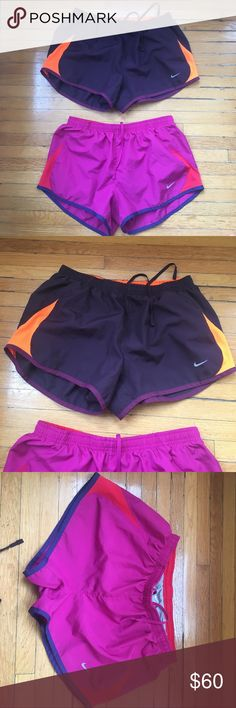 Nike running shorts with built in underwear Super cute shorts, only worn a couple times, flexible on price. Nike Shorts