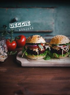 Veggie burger by Call me cupcake, via Flickr #AppleButterRecipes