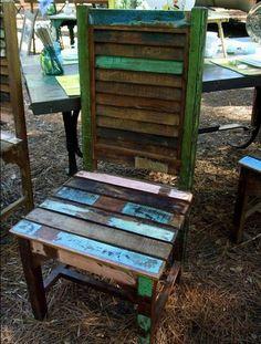 shutter chair ~ outdoor furniture.