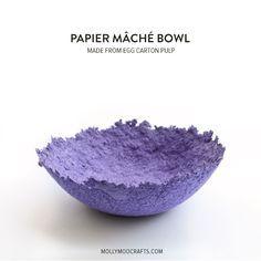 39 Ideas Fruit Bowl Diy Papier Mache For 2019 Carton Diy, Egg Carton Crafts, Paper Mache Bowls, Paper Bowls, Diy Mod Podge, Diy Paper, Paper Crafts, Diy Crafts, Papier Diy