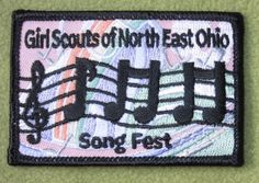 Girl Scouts North East Ohio 100th Anniversary Song Fest patch. Thank you, Adrien.